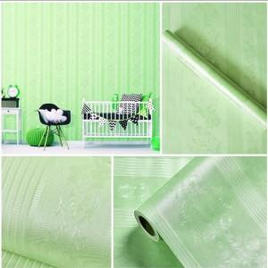 Harga wallpaper polos hijau batik garis uk 45cm x | HARGALOKA.COM