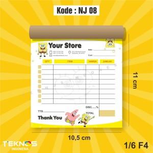 Harga nota penjualan olshop online shop logo custom 1 ply 1 6 folio   HARGALOKA.COM