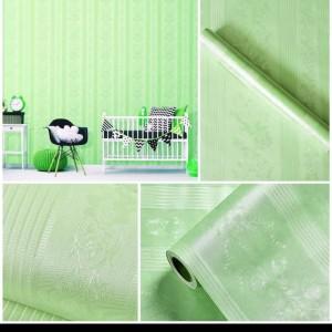 Harga wallpaper polos hijau garis batik 45cm x 10m wallpaper | HARGALOKA.COM