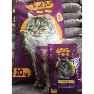 Harga makanan kucing bolt cat food repack 1 kg murah | HARGALOKA.COM
