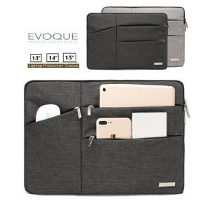 Harga tas laptop waterproof sleeve softcase bag for macbook 13 14 15 inches   hitam | HARGALOKA.COM