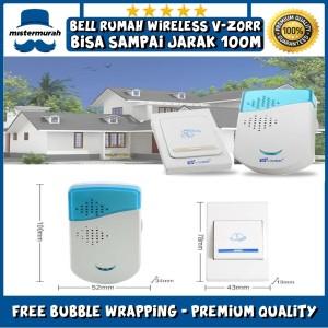 Harga bel pintu rumah v zorr wireless door bell remote 100m   tanpa | HARGALOKA.COM