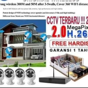 Harga cctv wifi wireless 4ch 2mp tinggal | HARGALOKA.COM