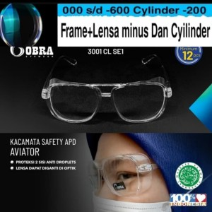 Harga kacamata safety apd anti virus free lensa minus antiradiasi   HARGALOKA.COM