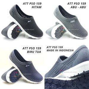 Harga sepatu karet jaring slip on pria att pso 159 hitam amp abu   39 | HARGALOKA.COM