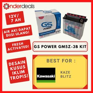 Harga aki motor kawasaki kaze blitz basah gm5z3b 12v 7ah | HARGALOKA.COM