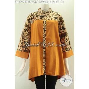 Harga blouse batik wanita gemuk kombinasi kain toyobo size xxl | HARGALOKA.COM