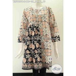 Harga blouse batik wanita kerja model tanpa krah lengan 7 8 size s | HARGALOKA.COM
