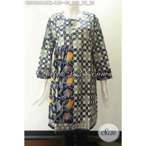 Harga jual blouse batik wanita gemuk lengan 7 8 tanpa krah size xxl | HARGALOKA.COM