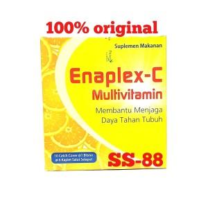 Harga enaplex c multivitamin untuk daya tahan tubuh strip isi 6 kaplet | HARGALOKA.COM