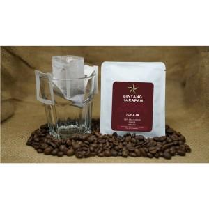 Harga drip bag coffee arabica toraja 12gr bintang harapan | HARGALOKA.COM