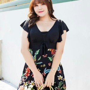 Harga baju renang wanita big size terbaru swimsuit jumbo woman | HARGALOKA.COM