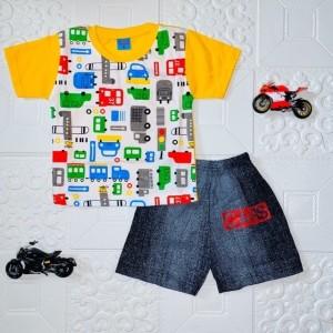 Harga baju setelan anak laki laki mobilmobil usia 1 5 thn   | HARGALOKA.COM