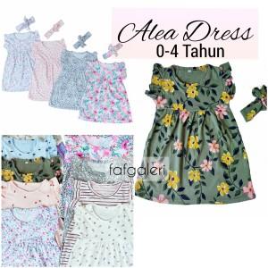 Harga alea dress bandana 0 4 tahun baju anak bayi perempuan motif kaos katun   size 4 3 4 | HARGALOKA.COM