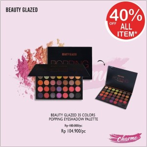 Harga ready amp ori beauty glazed 35 colors popping eyeshadow pallete   b | HARGALOKA.COM