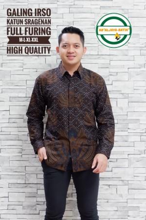 Harga galing irso kemeja batik pria panjang full furing by   HARGALOKA.COM