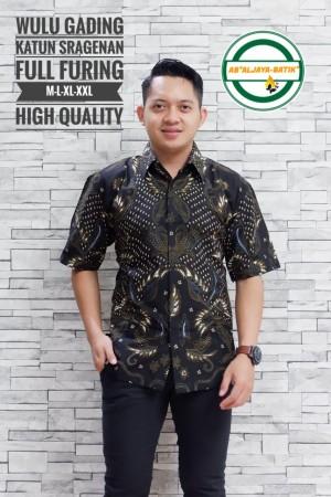 Harga wulu gading kemeja batik pria pendek full furing by   HARGALOKA.COM