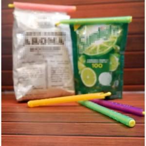 Harga pouch zipper organizer pen penjepit bungkus kopi dan makanan | HARGALOKA.COM