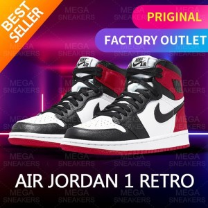 Harga air jordan 1 retro high satin black toe w original   | HARGALOKA.COM