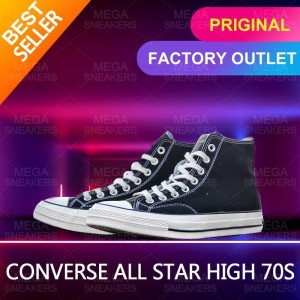 Harga converse all star 70s black shoes high classic man and women   | HARGALOKA.COM