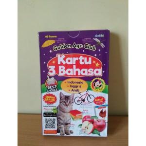 Harga flashcards murah kartu 3 bahasa golden age club | HARGALOKA.COM