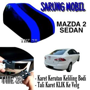 Harga sarung mobil mazda 2 sedan strip biru body cover penutup madza 2 | HARGALOKA.COM