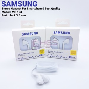 Harga headset samsung mh 133 jack 3 5 mm   stereo handsfree best | HARGALOKA.COM