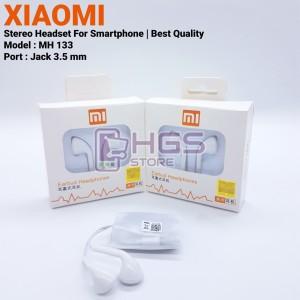 Harga headset xiaomi mh 133 jack 3 5 mm   stereo handsfree best | HARGALOKA.COM