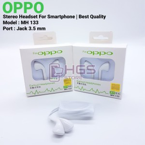 Harga headset oppo mh 133 jack 3 5 mm   stereo handsfree best | HARGALOKA.COM