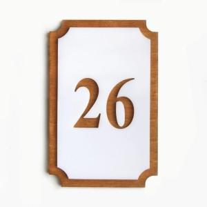 Harga nomor kamar akrilik kayu nomor kamar hotel kost angka | HARGALOKA.COM