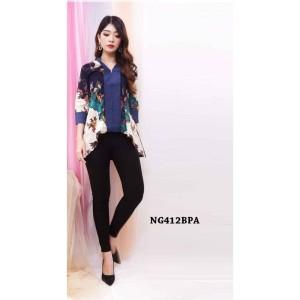 Harga top batik a line wanita blouse formal kerja blus casual favorit | HARGALOKA.COM