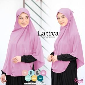 Harga kerudung nonpad lativa quail hijab syar 39 i jilbab | HARGALOKA.COM
