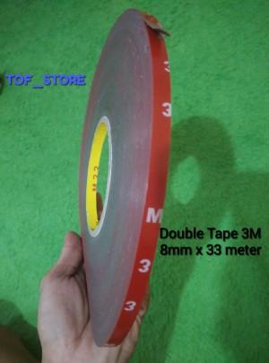 Harga double tape 3m 8mm x 33 meter murah | HARGALOKA.COM