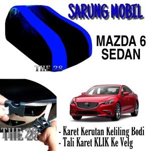 Harga sarung mobil mazda 6 sedan strip biru body cover penutup sedan | HARGALOKA.COM