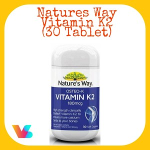 Harga natures way osteo k vitamin k2 30 tablet | HARGALOKA.COM
