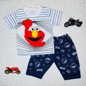 Harga 6 24 bln setelan baju anak laki laki motif elmo m   | HARGALOKA.COM