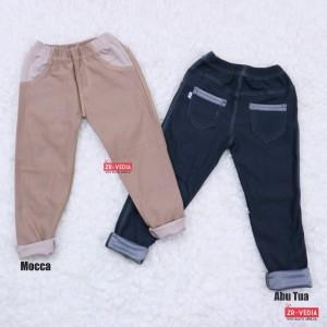 Harga jeans legging kantong uk bayi 6 18 bulan leging bayi polos murah   coklat   HARGALOKA.COM