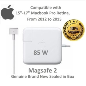 Harga adaptor charger laptop macbook pro retina magsafe 2 85w a1398 | HARGALOKA.COM