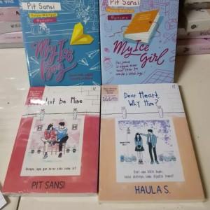 Harga paket 4 novel my ice boy my ice girl just be mine dear heart why | HARGALOKA.COM