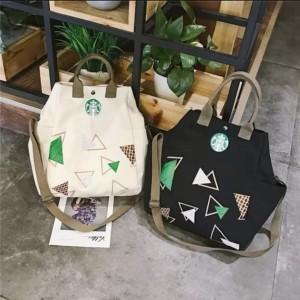 Harga tas canvas bag wanita tas kanvas model starbuck     HARGALOKA.COM