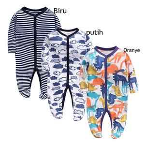 Harga bayi pakaian garis garis jumper bayi unisex jumpsuit lengan panjang v9   orange | HARGALOKA.COM