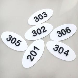 Harga nomor kamar kost acrylic nomor rumah kos nomor kamar | HARGALOKA.COM