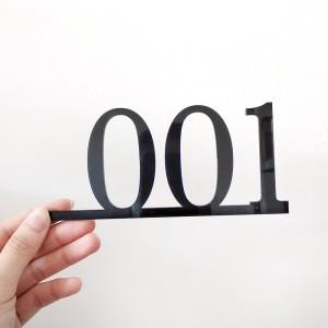 Harga nomor kamar acrylic hitam nomor kamar kost | HARGALOKA.COM