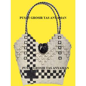 Harga promo tas lova hitam putih catur new terlaris murah grosir   HARGALOKA.COM