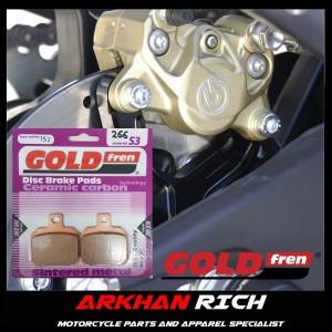 Harga kampas rem belakang brembo 2 piston goldfren s3 152 original | HARGALOKA.COM