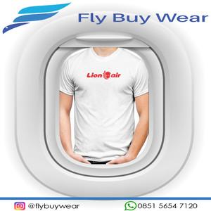 Harga baju kaos t shirt penerbangan lion air maskapai pesawat aviasi   putih | HARGALOKA.COM