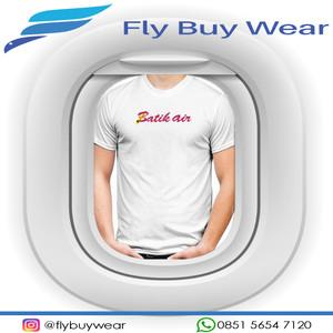 Harga baju kaos t shirt penerbangan batik air maskapai lion air group aviasi   putih | HARGALOKA.COM