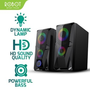 Harga robot speaker aktif stereo gaming 3 5mm garansi resmi 1 tahun | HARGALOKA.COM