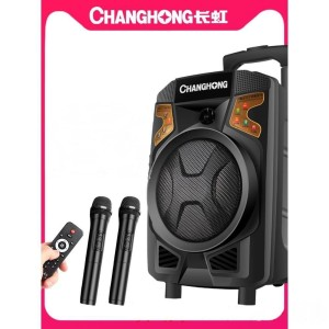 Harga speaker portable 2 wireless mic pa amplifier   changhong | HARGALOKA.COM
