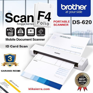 Harga brother ds 620 portable scanner f4 mobile document id card scan | HARGALOKA.COM